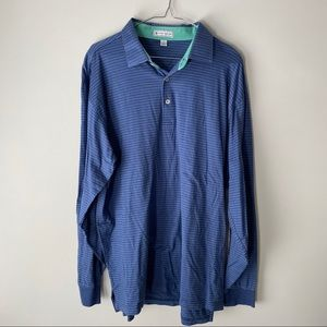 Men's Large Peter Millar Athletic Long Sleeve Polo